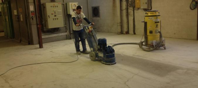 préparation de sol industriel par ponçage diamant