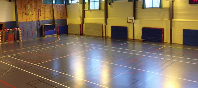 Marquage de sol sportif de gymnase