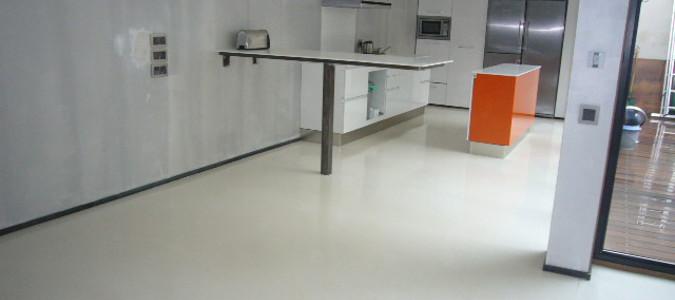 sol en béton ciré pour cuisine