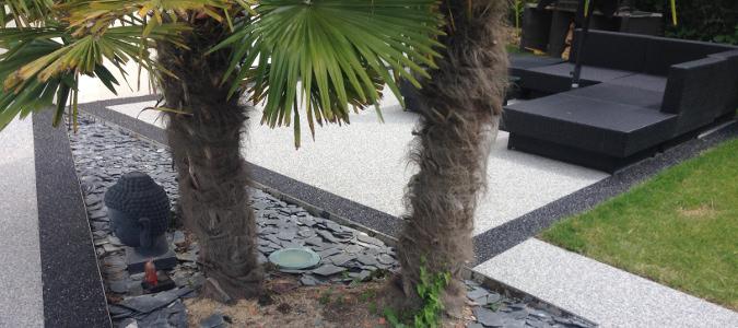 Tapis de pierre décoratif extérieur