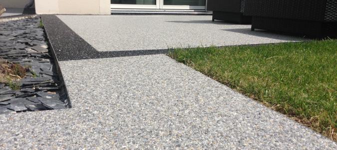 Tapis de pierre pour terrasse
